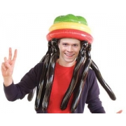 Oppustelig Rasta Hat & Dreadlocks